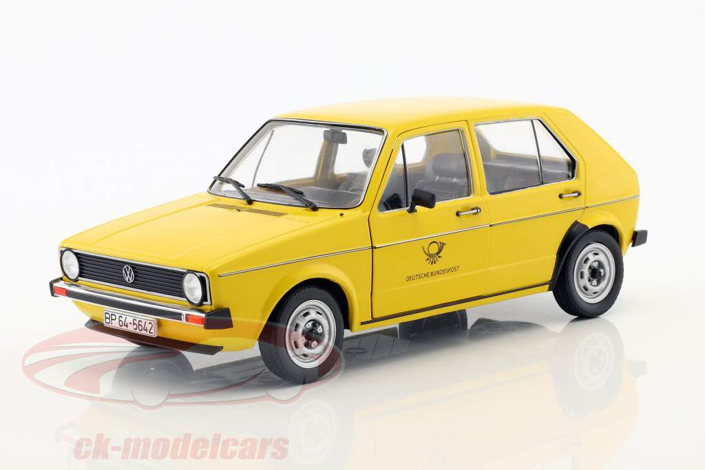 Volkswagen VW Golf 1 Deutsche Bundespost Baujahr 1974 gelb 1:18 Solido