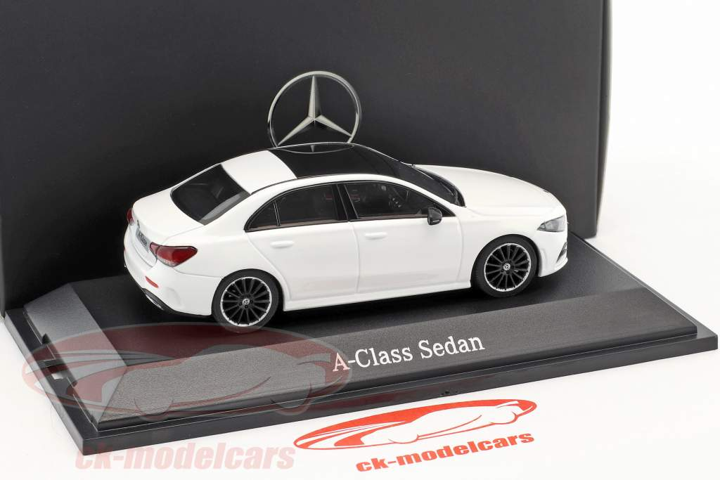 Mercedes-Benz A-klasse sedan (V177) polær hvid 1:43 Herpa