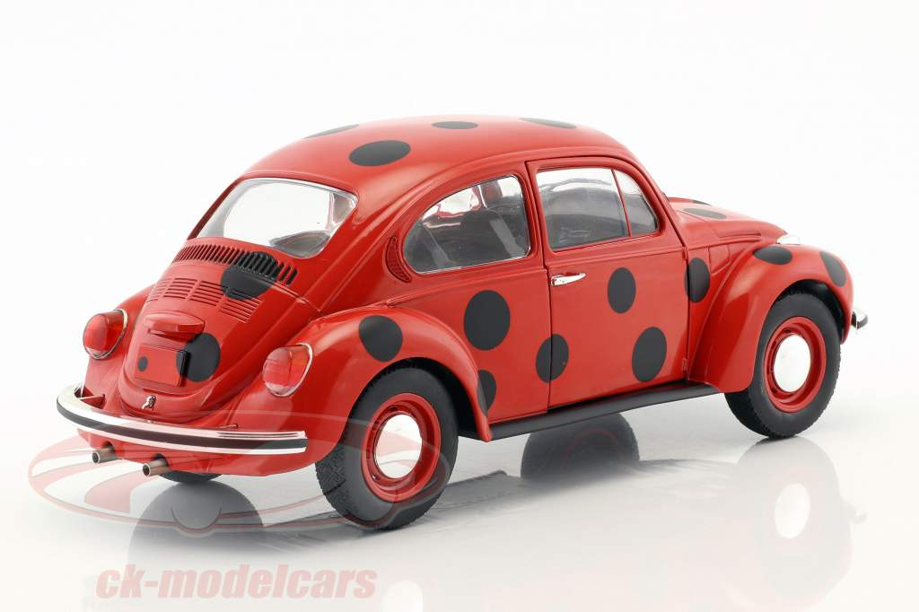 Volkswagen VW Käfer 1303 mariquita rojo / negro 1:18 Solido