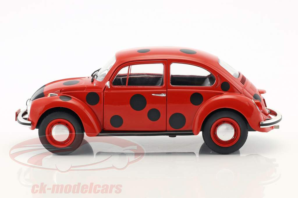 Volkswagen VW Käfer 1303 lieveheersbeestje rood / zwart 1:18 Solido