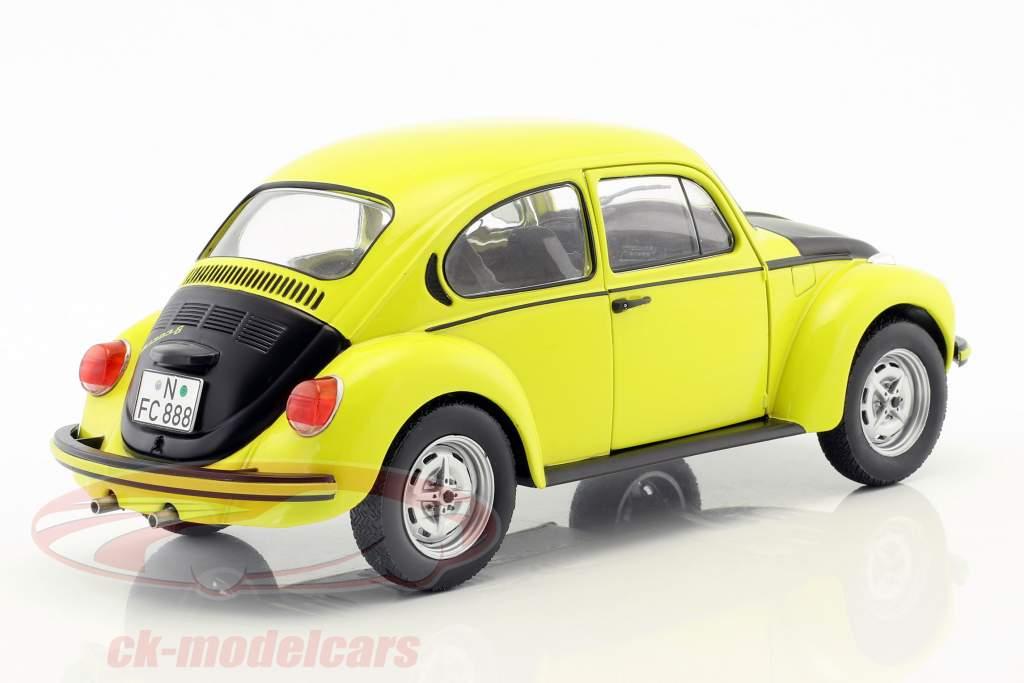Volkswagen VW Käfer 1303 GSR Baujahr 1973 gelb / schwarz 1:18 Solido
