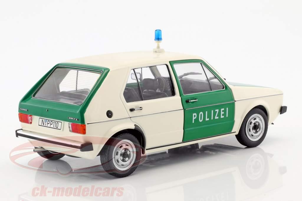Volkswagen VW Golf Polizei verde / beige 1:18 Solido