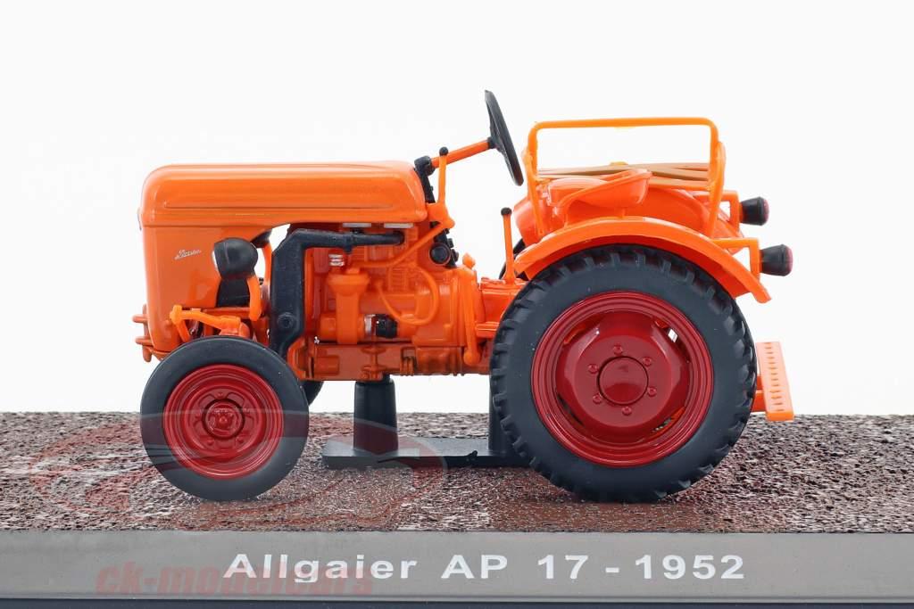 Allgaier AP17 année de construction 1952 orange 1:32 Atlas