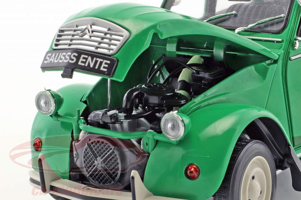 Citroen 2CV Sausss Ente anno di costruzione 1987 verde / grigio 1:18 Solido