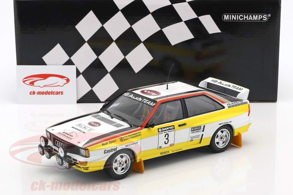 Audi Quattro A2 #3 Winner Rally New Zealand 1984 Blomqvist, Cederberg 1:18 Minichamps