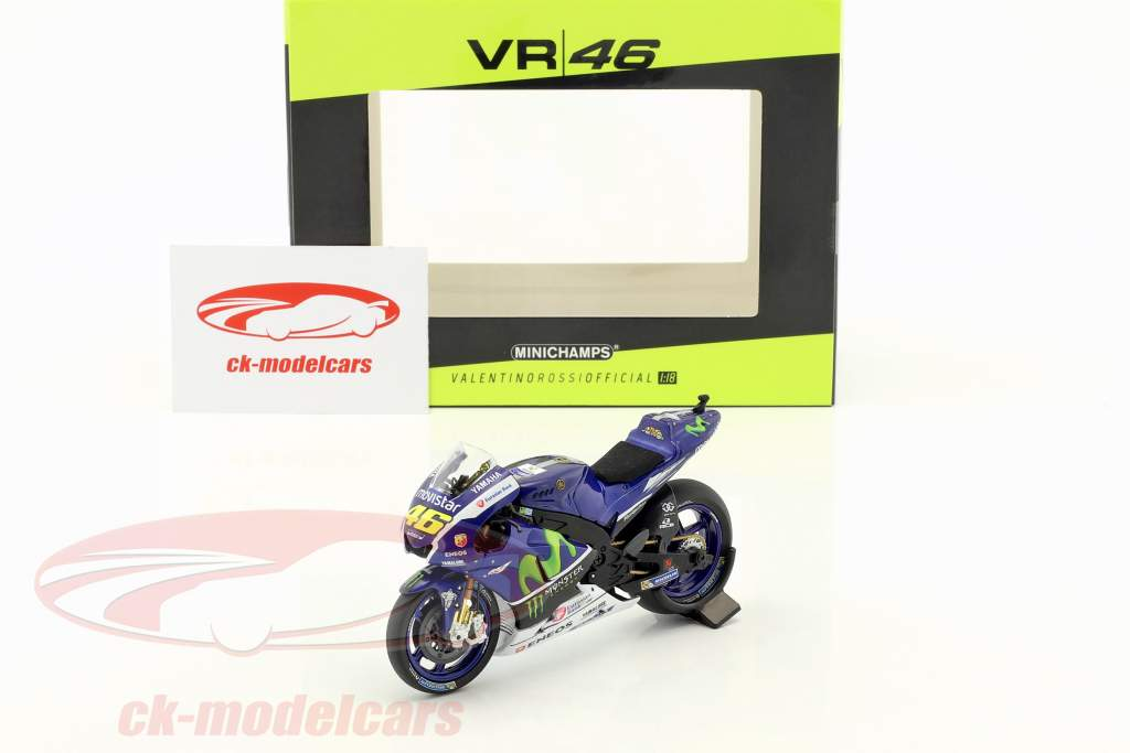 Valentino Rossi Yamaha YZR-M1 #46 Bike test MotoGP 2016 1:18 Minichamps