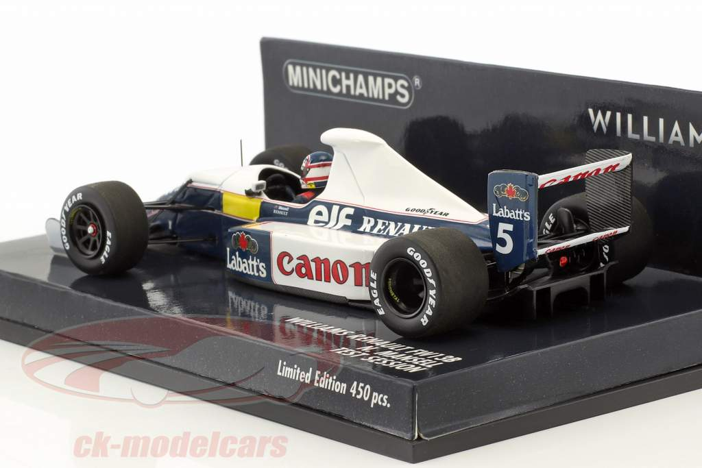 Nigel Mansell Williams Renault FW13B #5 prova sessione formula 1 1:43 Minichamps