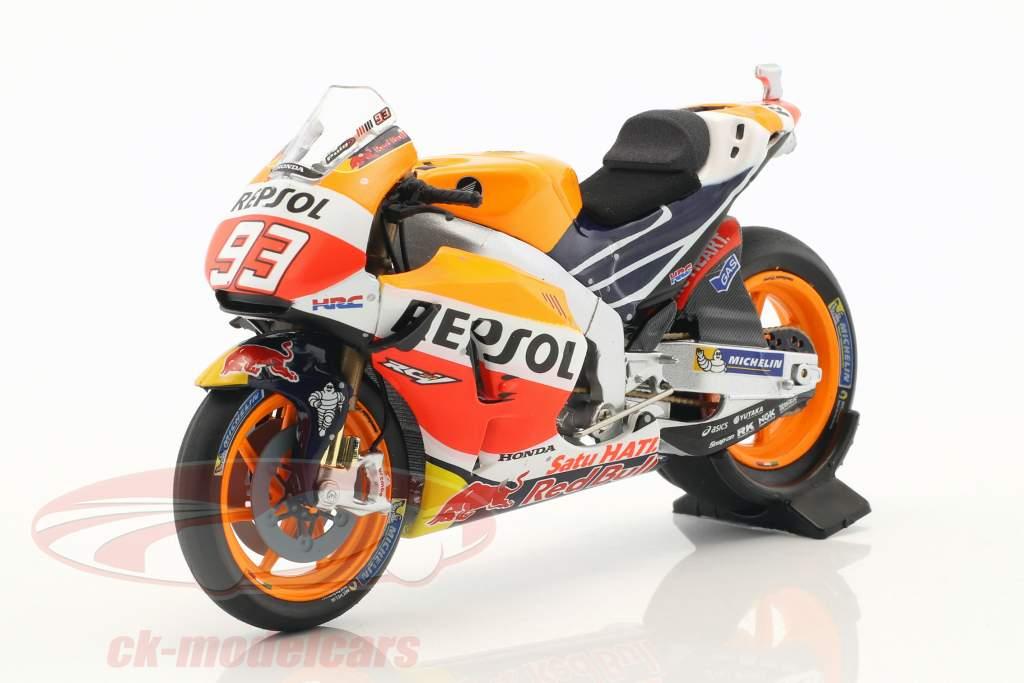 Marc Marquez Honda RC213V #93 campione del mondo MotoGP 2016 1:18 Minichamps