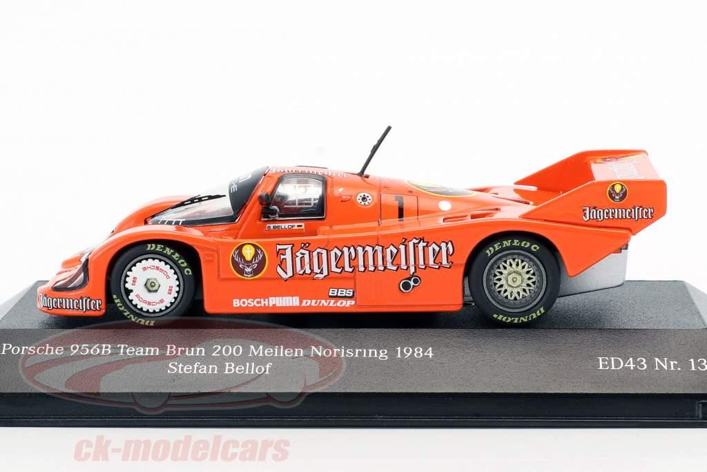 Porsche 956B #1 3ª 200 milhas Norisring 1984 Stefan Bellof 1:43 CMR