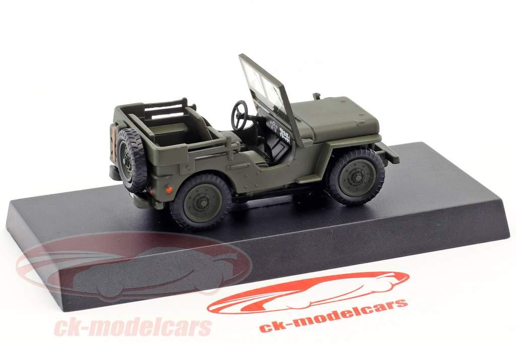 Jeep Willys année de construction 1947 olive vert 1:43 Altaya