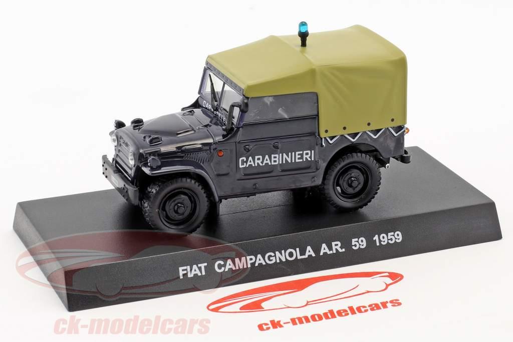 Fiat Campagnola A.R. 59 année de construction 1959 bleu foncé 1:43 Altaya
