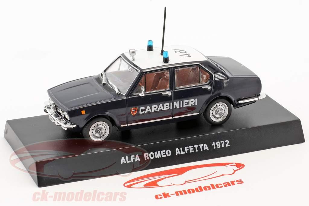 Alfa Romeo Alfetta Baujahr 1972 dunkelblau / weiß 1:43 Altaya