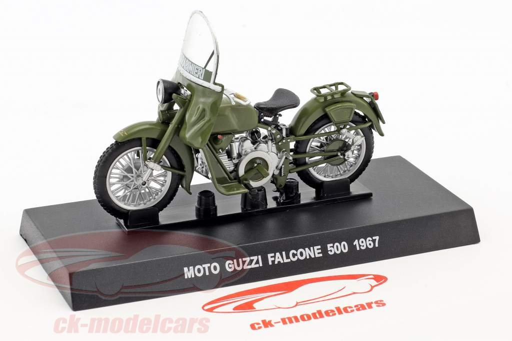 Moto Guzzi Falcone 500 Baujahr 1967 oliv grün 1:24