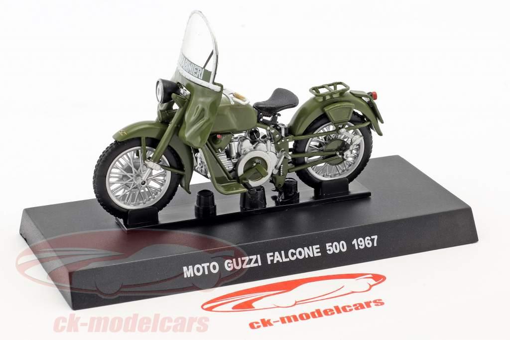 Moto Guzzi Falcone 500 Bouwjaar 1967 olijf groen 1:24