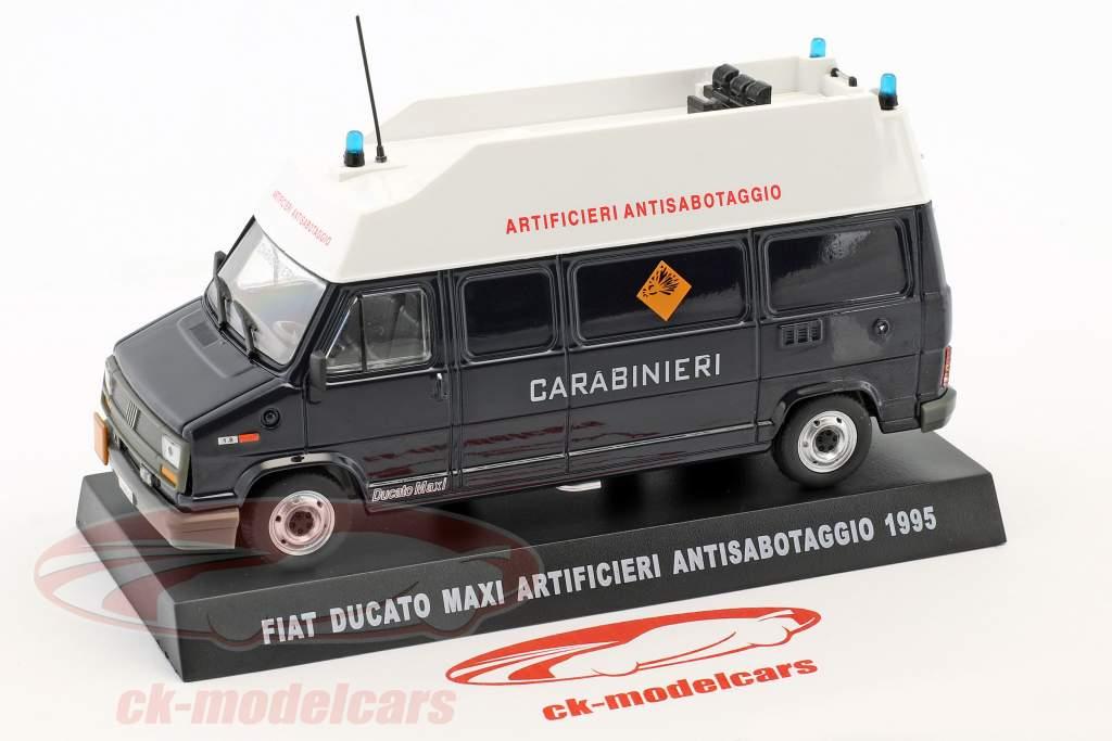 Fiat Ducato Maxi Artificieri Antisabotaggio year 1995 dark blue 1:43 Altaya