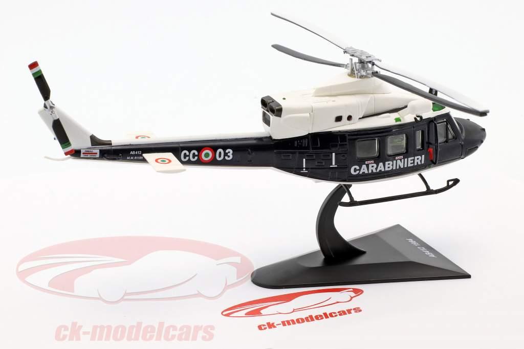 Agusta AB412 helicopter year 1984 dark blue / White 1:72 Altaya