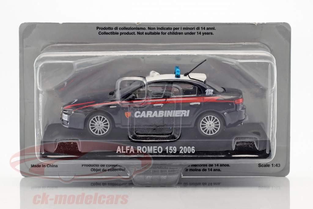 Alfa Romeo 159 Carabinieri année de construction 2006 bleu foncé 1:43 Altaya