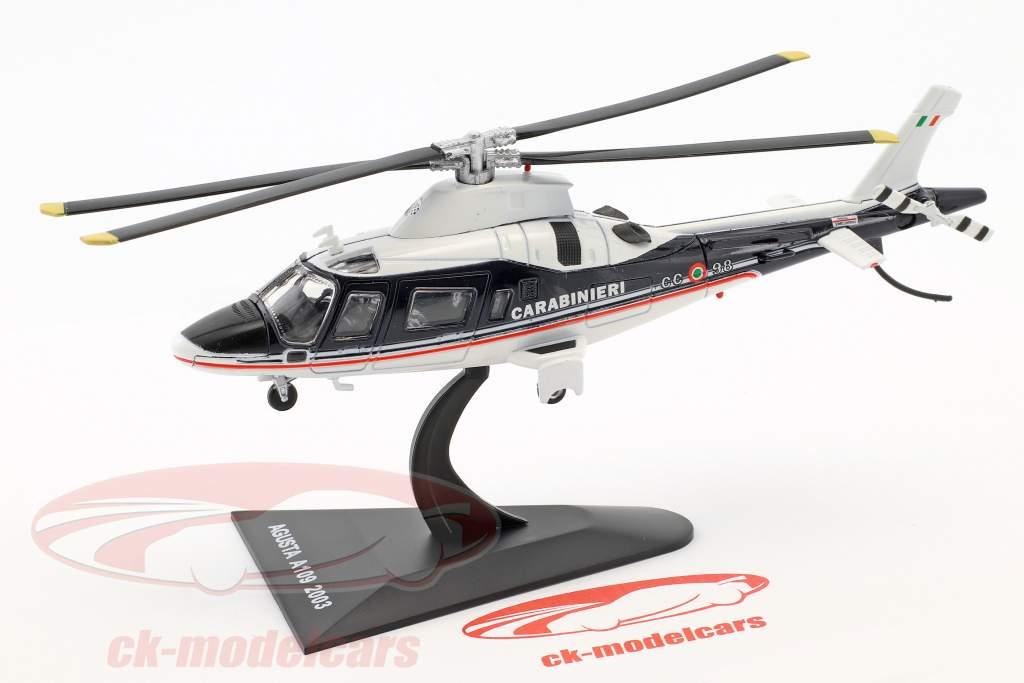 Agusta A109 elicottero anno di costruzione 2003 blu / bianco 1:72 Altaya
