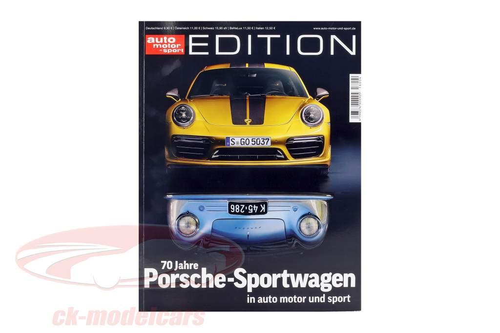 Zeitschrift auto motor und sport Edition: 70 Jahre Porsche-Sportwagen