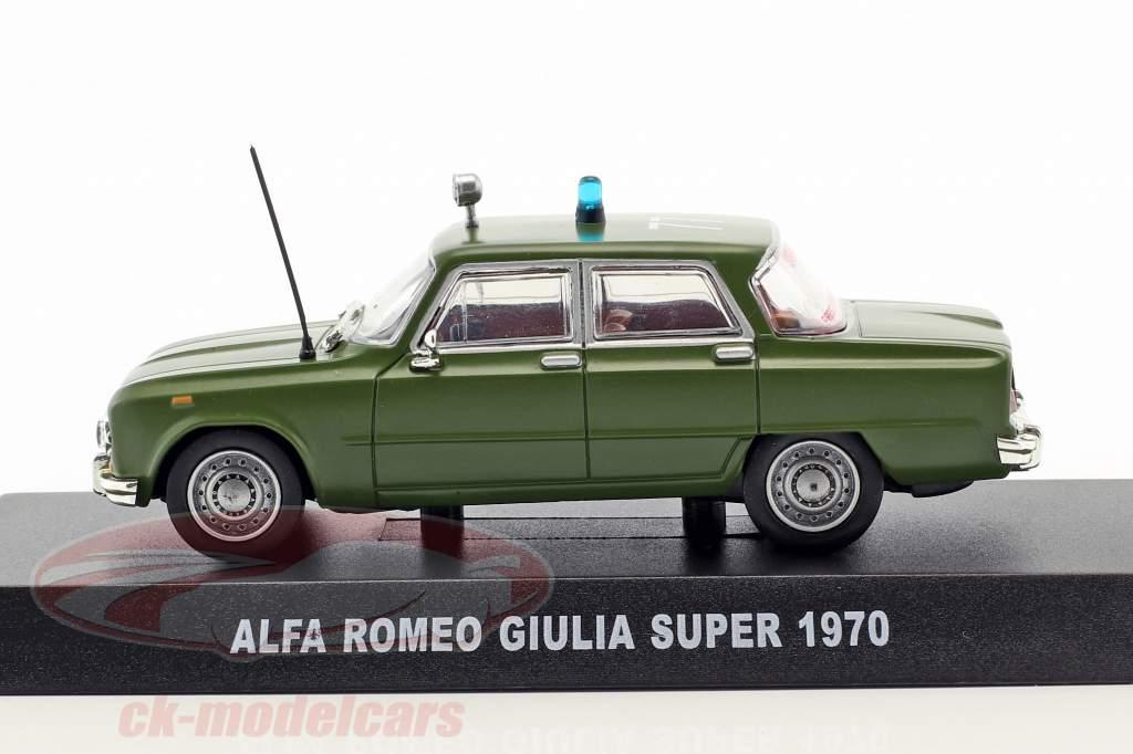 Alfa Romeo Giulia Super year 1970 olive green 1:43 Altaya