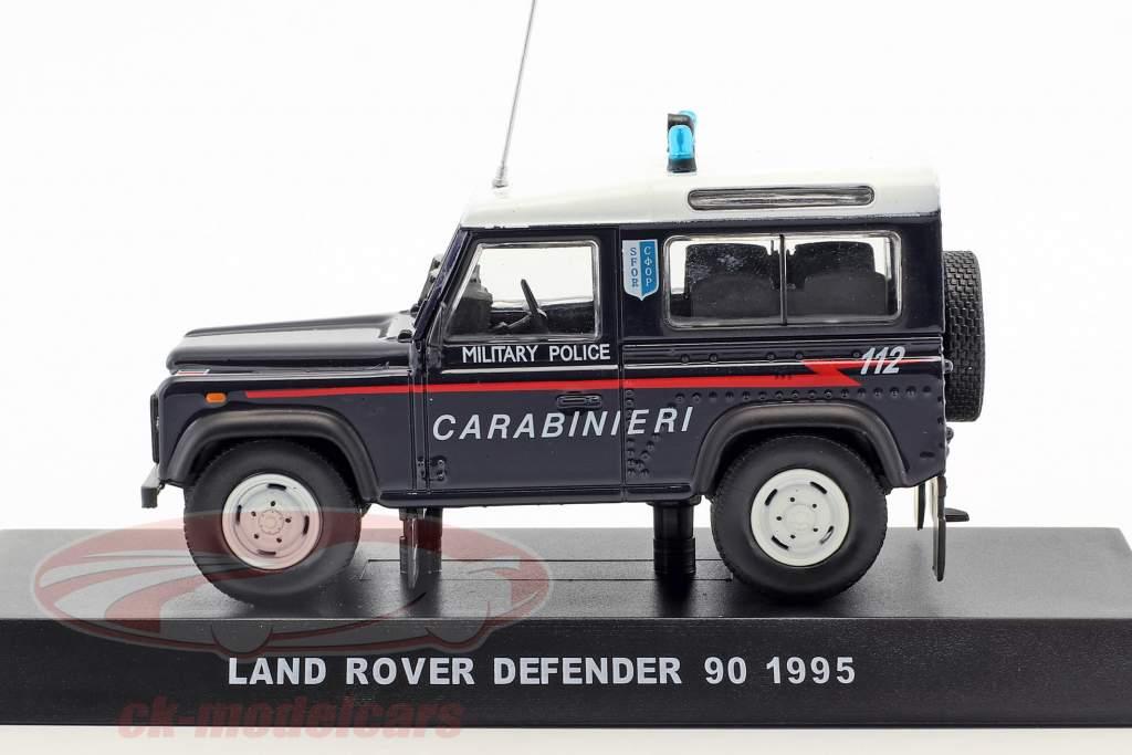 Land Rover Defender 90 Military policy year 1995 dark blue 1:43 Altaya