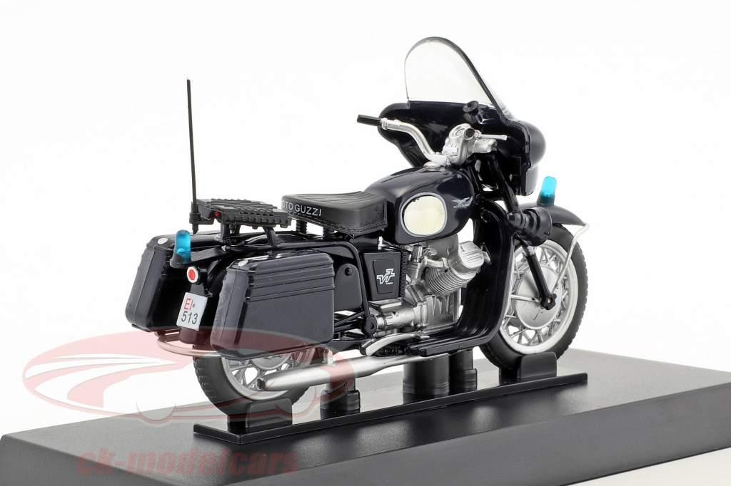 Moto Guzzi 750 V7 Baujahr 1966 dunkelblau 1:24 Altaya