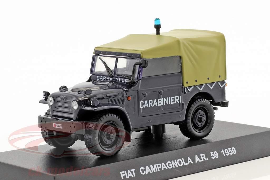 Fiat Campagnola A.R. 59 year 1959 dark blue 1:43 Altaya