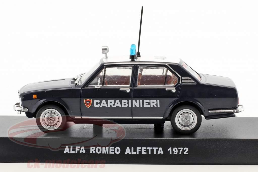Alfa Romeo Alfetta année de construction 1972 bleu foncé / blanc 1:43 Altaya