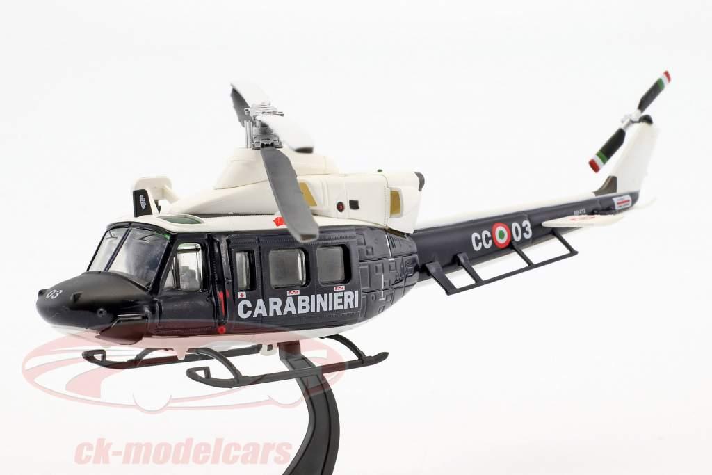 Agusta AB412 hélicoptère année de construction 1984 bleu foncé / blanc 1:72 Altaya