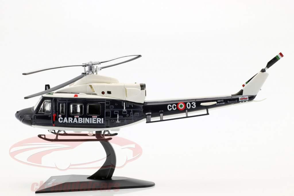 Agusta AB412 elicottero anno di costruzione 1984 blu scuro / bianco 1:72 Altaya