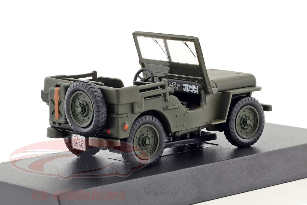Jeep Willys anno di costruzione 1947 oliva verde 1:43 Altaya