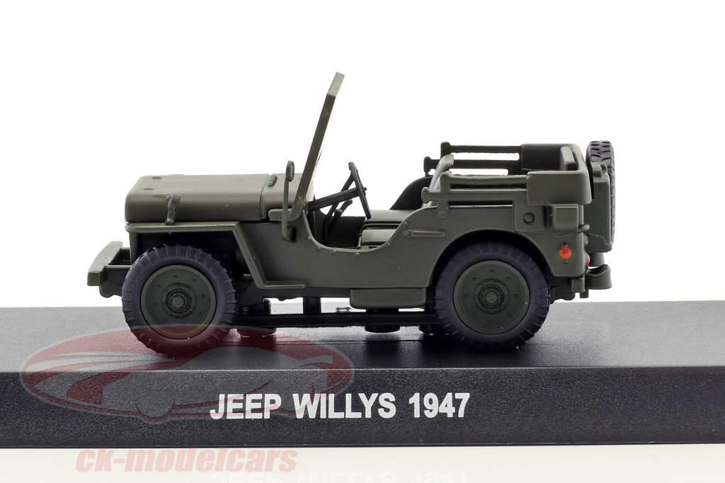 Jeep Willys Baujahr 1947 oliv grün 1:43 Altaya
