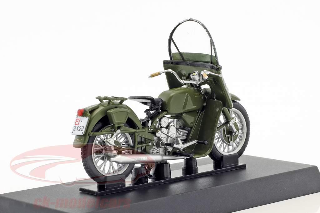 Moto Guzzi Falcone 500 año de construcción 1967 oliva verde 1:24