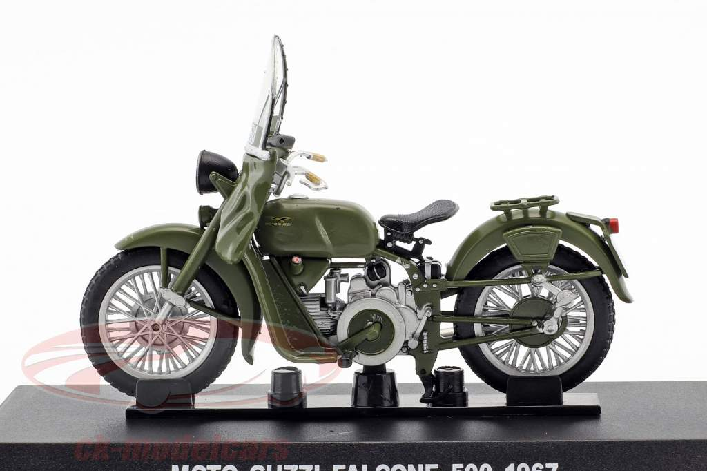 Moto Guzzi Falcone 500 anno di costruzione 1967 oliva verde 1:24