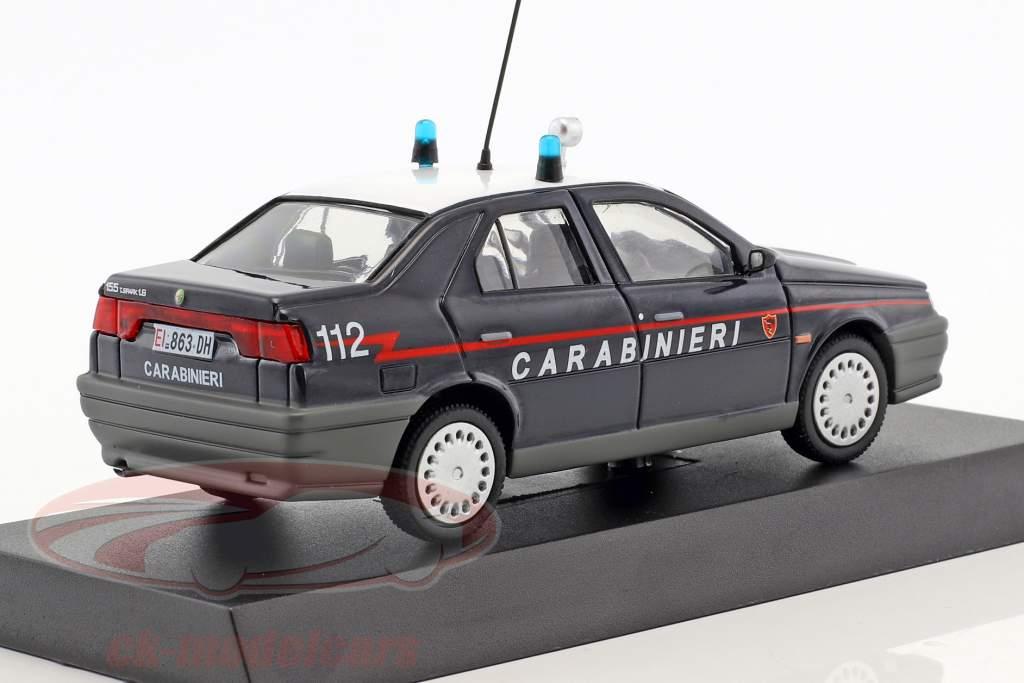 Alfa Romeo 155 Twin Spark 1.8 anno di costruzione 1992 blu scuro 1:43 Altaya