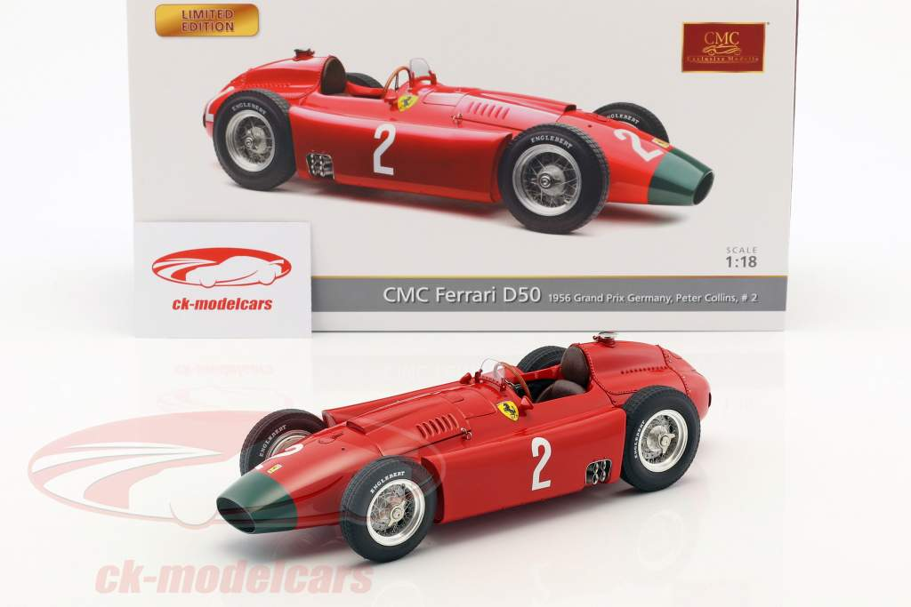 Peter Collins Ferrari D50 Long Nose #2 allemand GP formule 1 1956 1:18 CMC