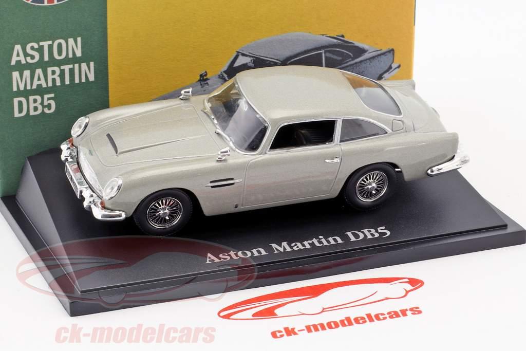 Aston Martin DB5 grigio argento metallico 1:43 Atlas