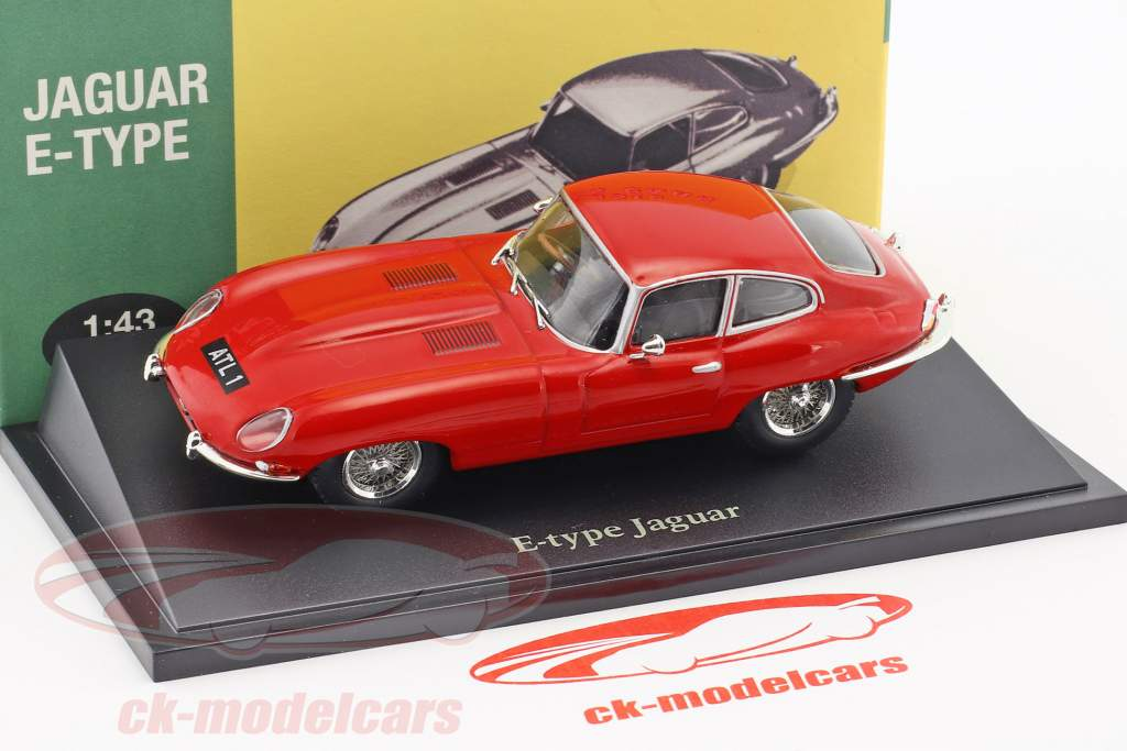 Jaguar E-Type red 1:43 Atlas