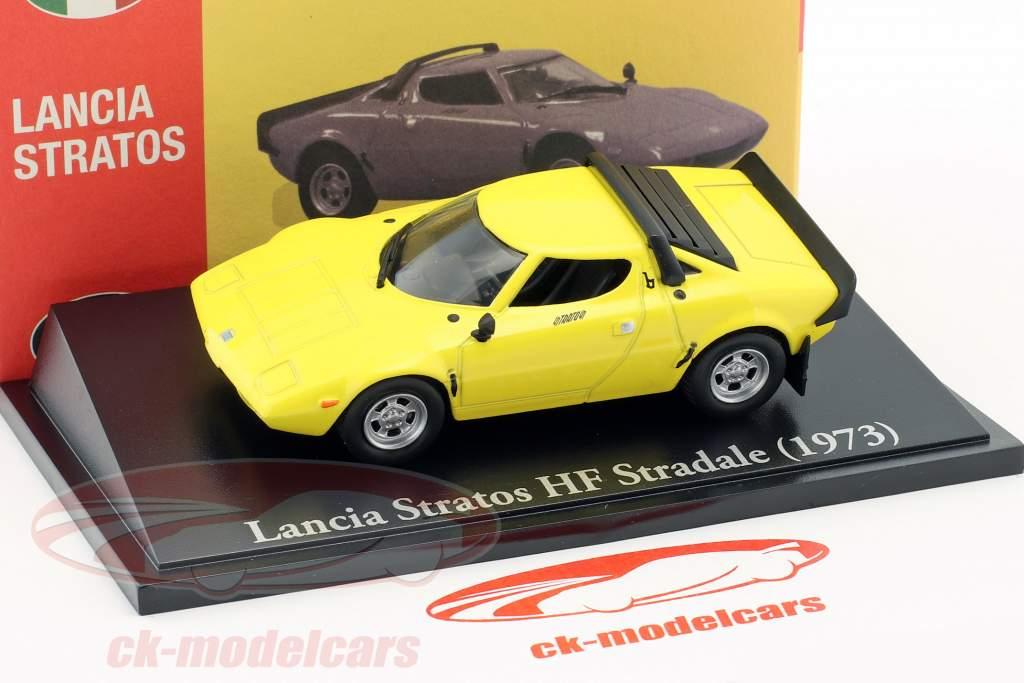 Lancia Stratos HF Stradale year 1973 yellow 1:43 Atlas
