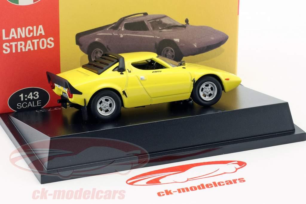 Lancia Stratos HF Stradale anno di costruzione 1973 giallo 1:43 Atlas