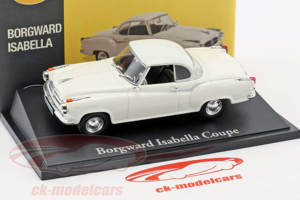 Borgward Isabella Coupe weiß 1:43 Atlas