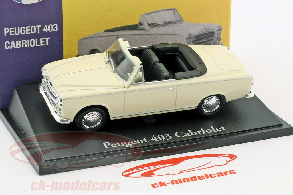 Peugeot 403 Cabriolet cream white 1:43 Atlas
