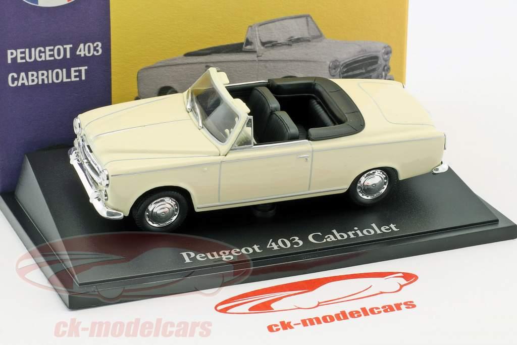 Peugeot 403 cabriolet crème blanc 1:43 Atlas