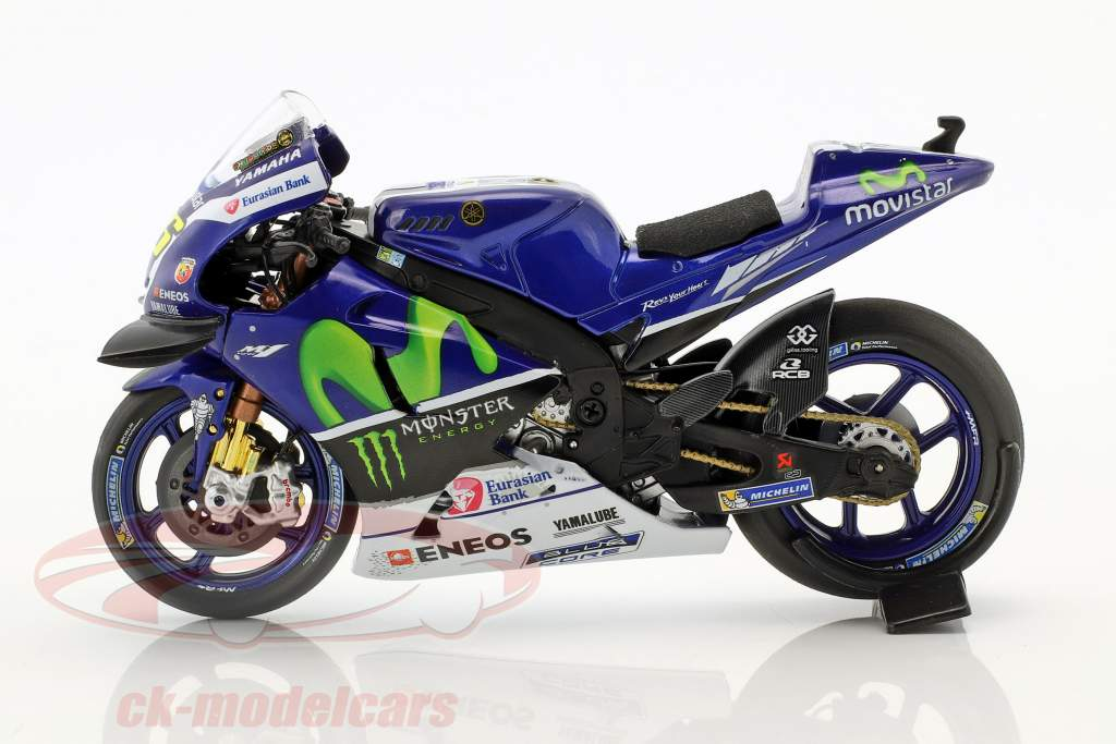 Valentino Rossi Yamaha YZR-M1 #46 gagnant MotoGP Catalunya 2016 1:18 Minichamps