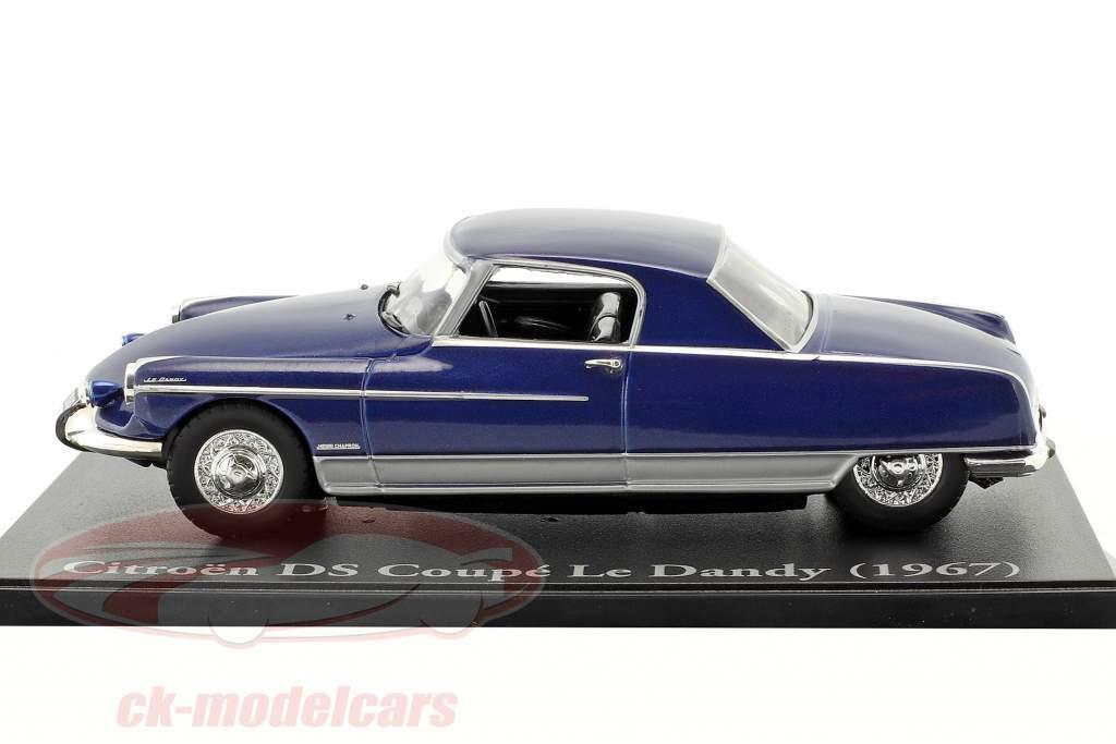 Citroen DS coupé Le Dandy année de construction 1967 bleu 1:43 Atlas
