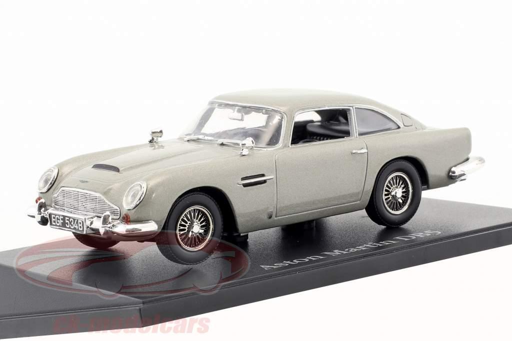 Aston Martin DB5 silbergrau metallic 1:43 Atlas