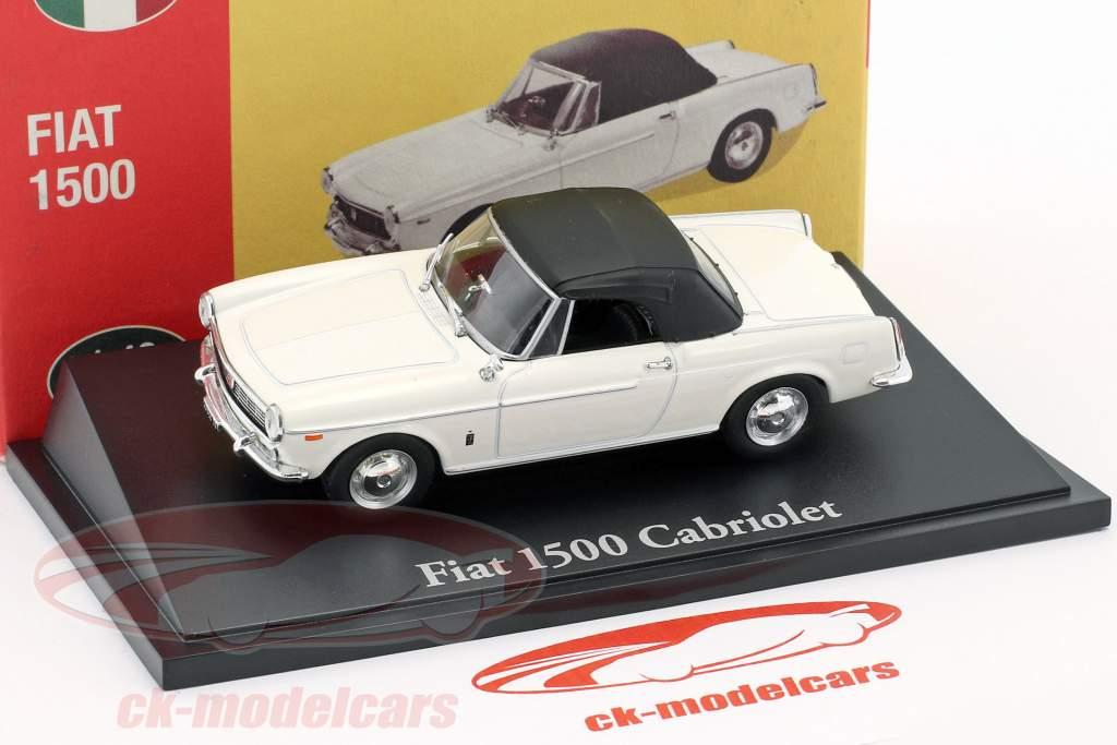 Fiat 1500 convertible blanc 1:43 Atlas