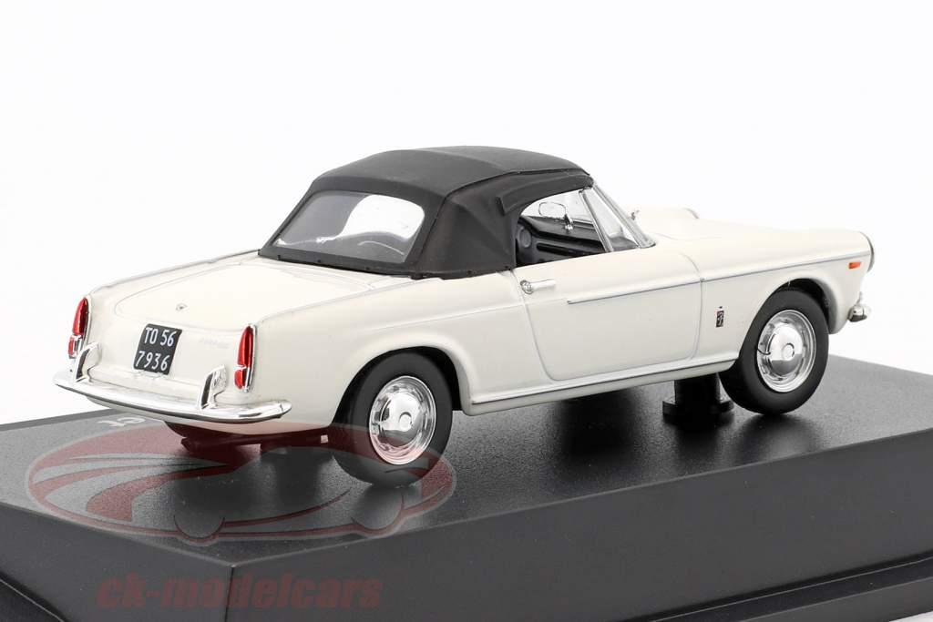 Fiat 1500 convertibile bianco 1:43 Atlas