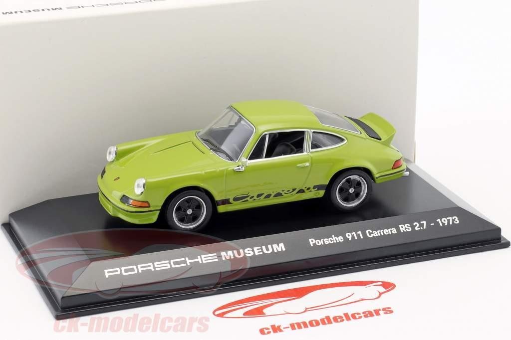 Porsche 911 Carrera RS 2.7 ano de construção 1973 jade verde / preto 1:43 Welly