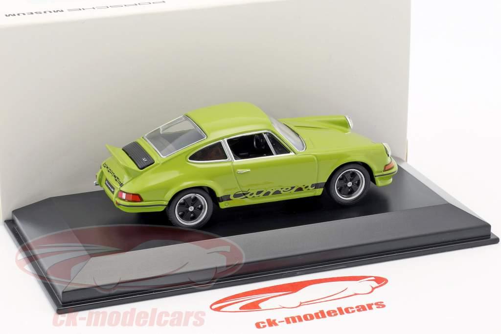 Porsche 911 Carrera RS 2.7 anno di costruzione 1973 giada verde / nero 1:43 Welly